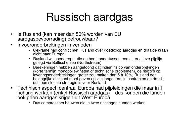 Russisch aardgas