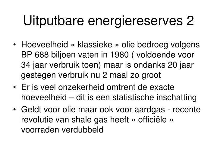 Uitputbare energiereserves 2