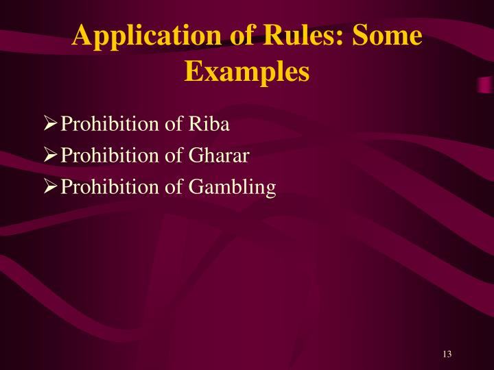 Application of Rules: Some Examples