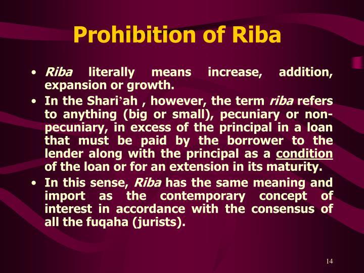 Prohibition of Riba