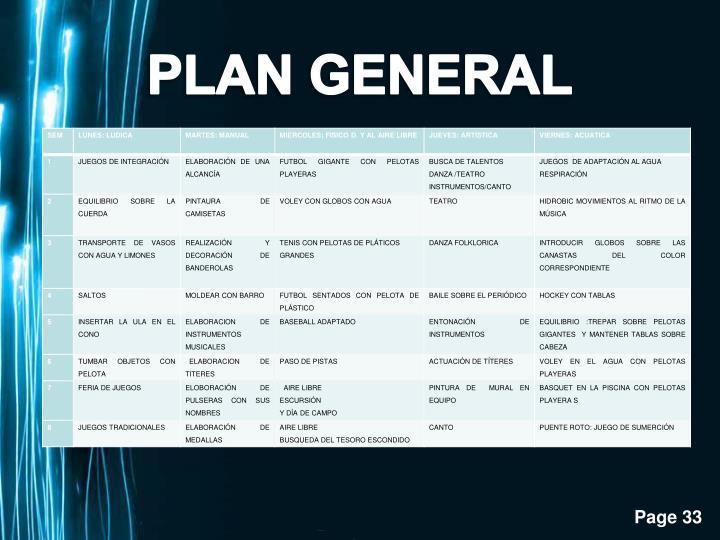 PLAN GENERAL