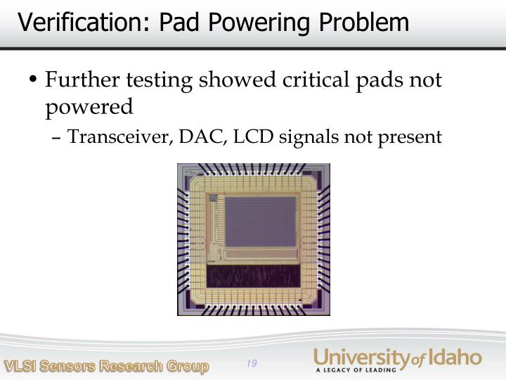 Verification: Pad Powering Problem