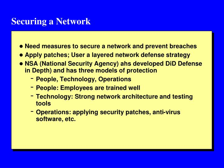 Securing a Network