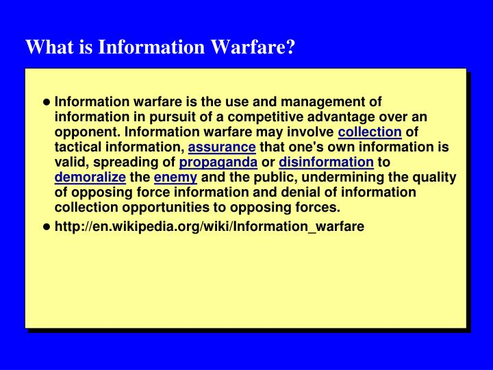 What is Information Warfare?