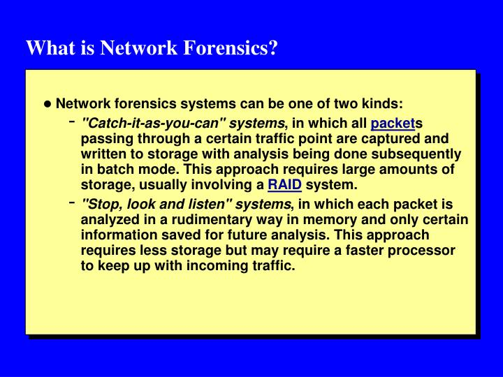 What is Network Forensics?