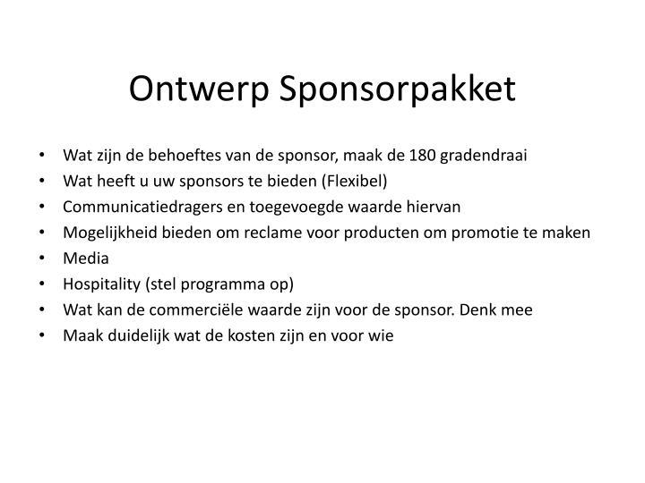Ontwerp Sponsorpakket