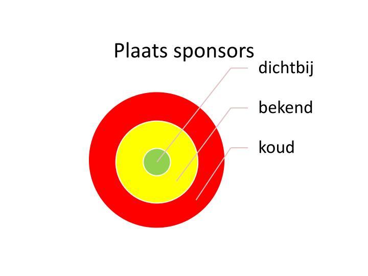 Plaats sponsors
