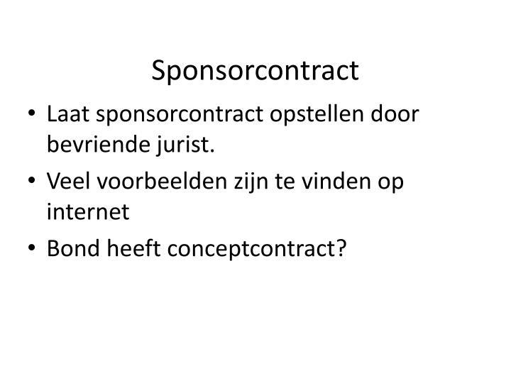 Sponsorcontract