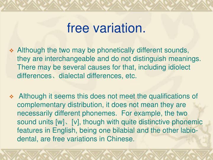 free variation.