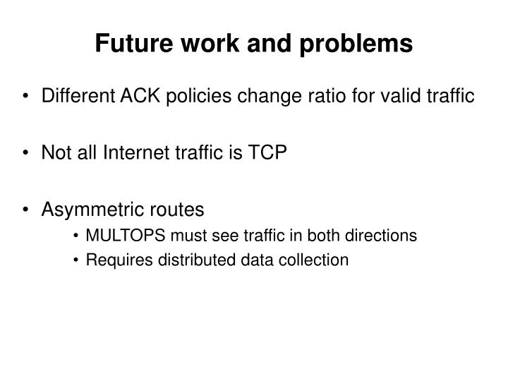 Future work and problems
