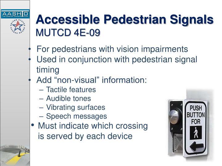 Accessible Pedestrian Signals