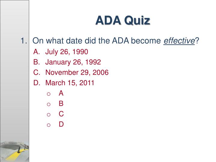 ADA Quiz