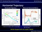 horizontal trajectory