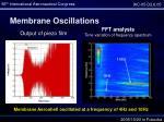 membrane oscillations