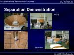 separation demonstration