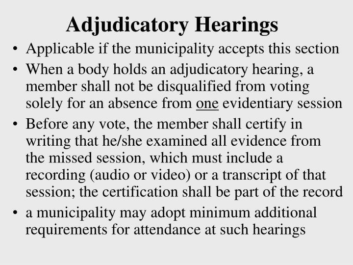Adjudicatory Hearings