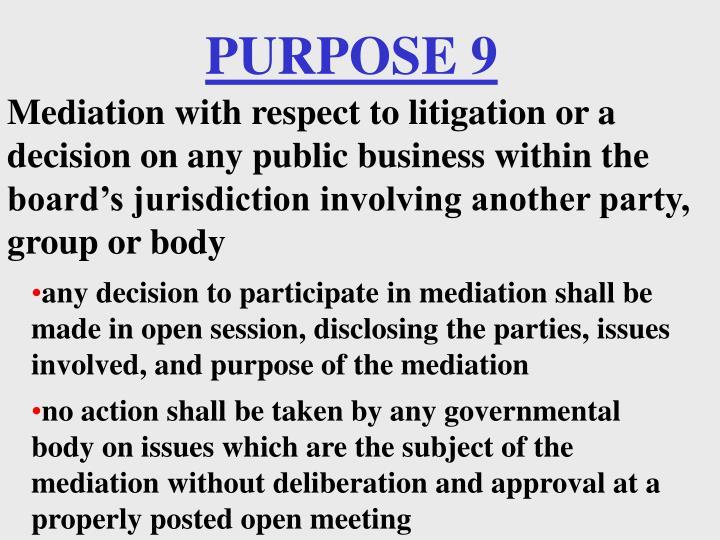 PURPOSE 9