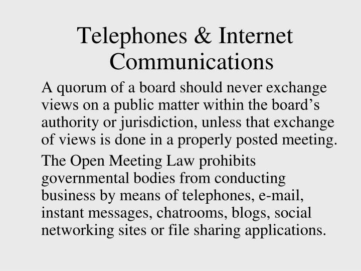 Telephones & Internet Communications