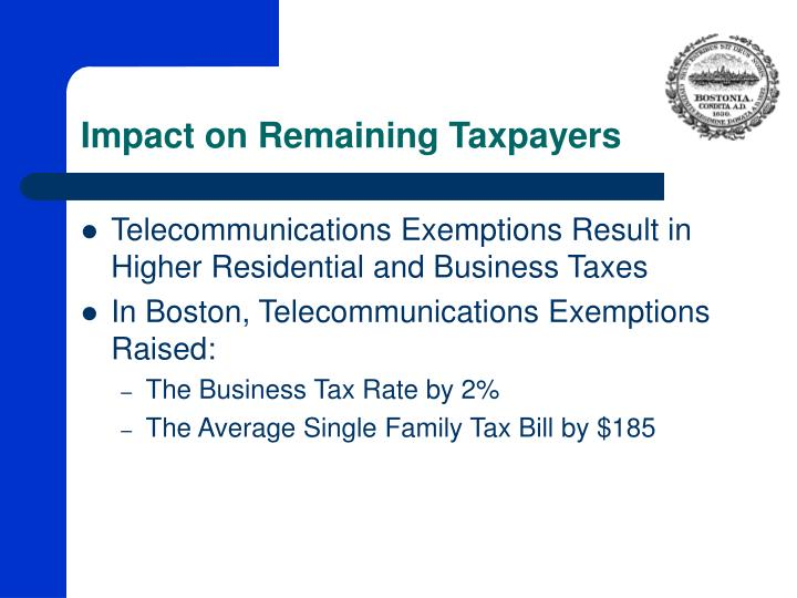Impact on Remaining Taxpayers