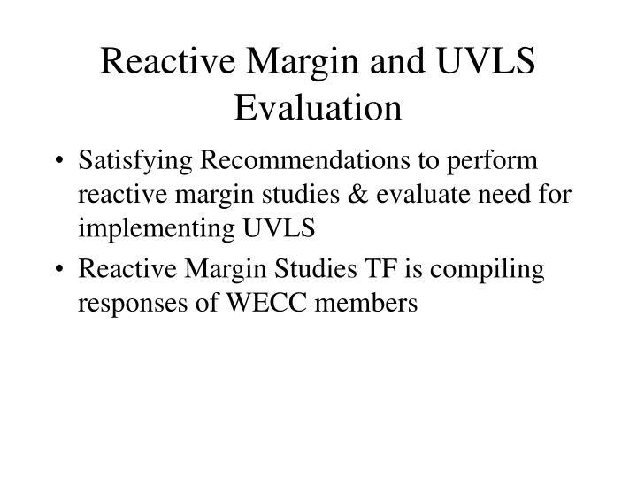 Reactive Margin and UVLS Evaluation