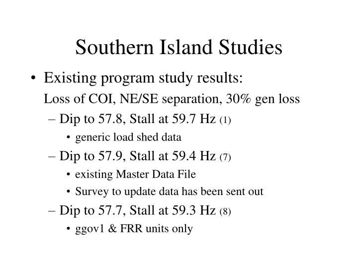 Southern Island Studies