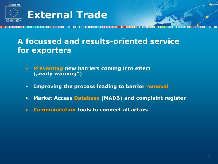 A focussed and results-oriented service for exporters