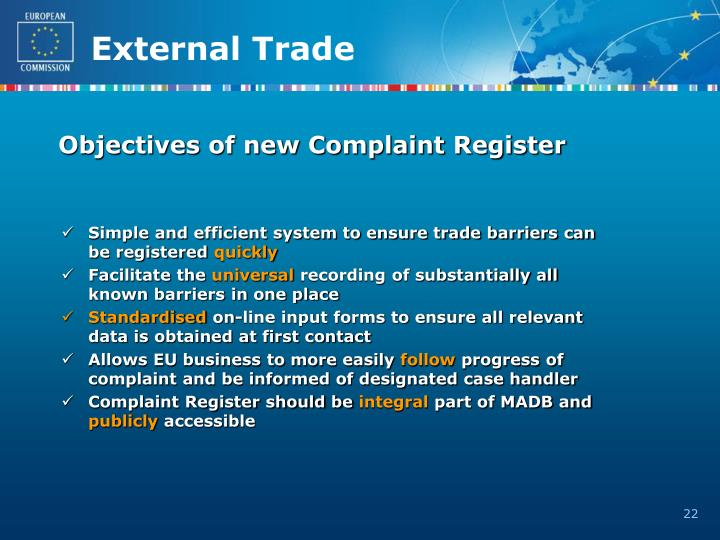Objectives of new Complaint Register