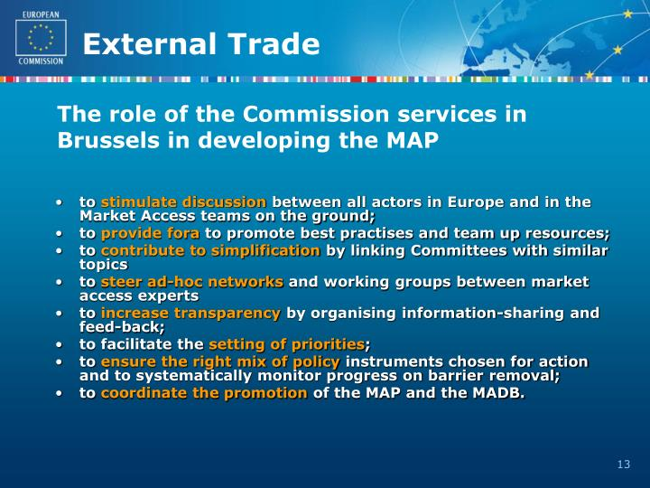 The role of the Commission services in
