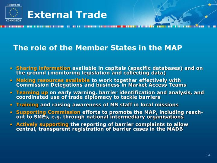 The role of the Member States in the MAP