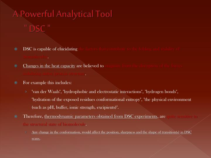 A Powerful Analytical Tool