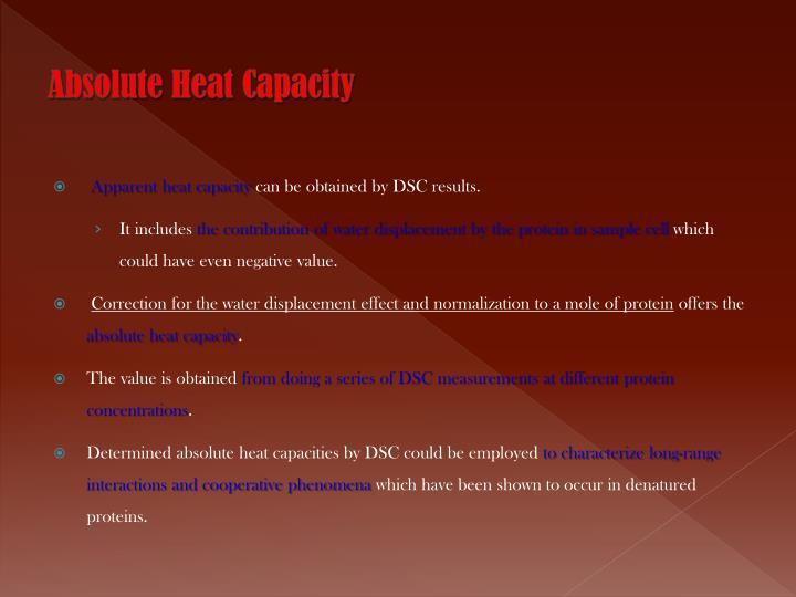 Absolute Heat Capacity