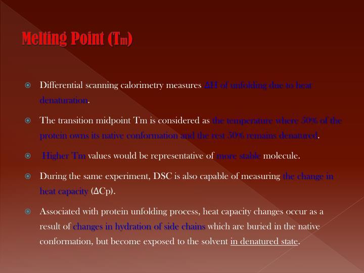 Melting Point (T