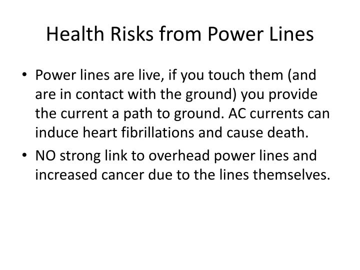 Health Risks from Power Lines