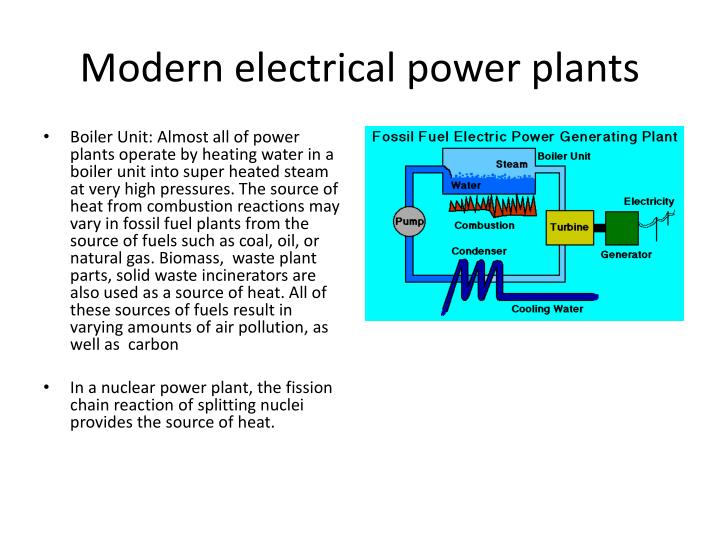 Modern electrical power plants
