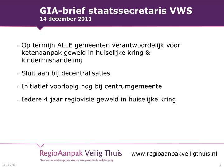 Gia brief staatssecretaris vws 14 december 2011