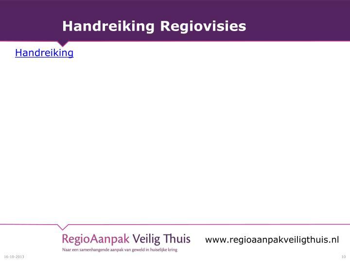 Handreiking Regiovisies