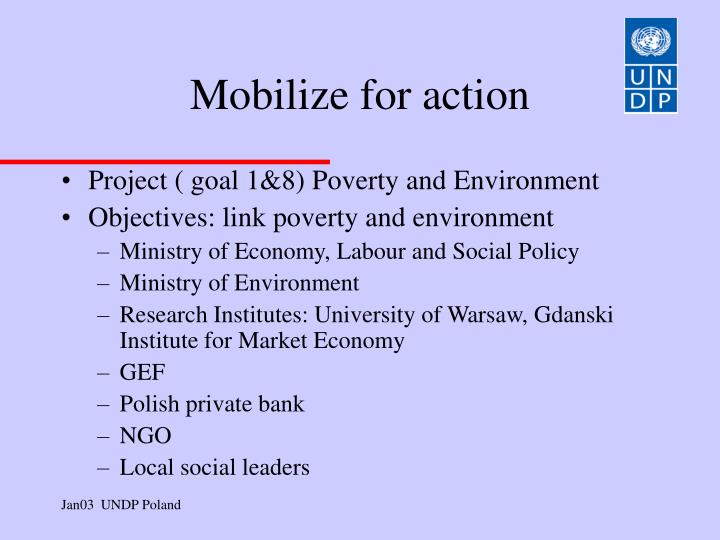 Mobilize for action