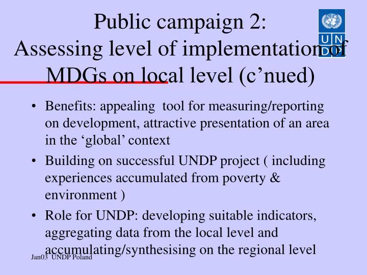 Public campaign 2: