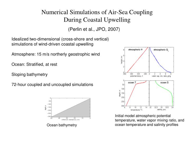 Numerical Simulations of Air-Sea Coupling