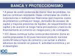 banca y proteccionismo