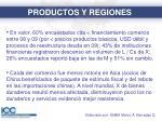 productos y regiones