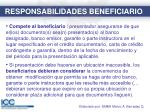 responsabilidades beneficiario