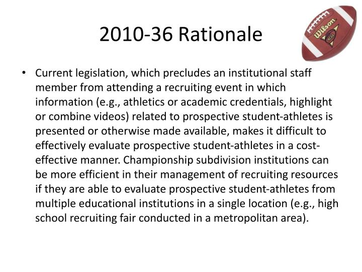 2010-36 Rationale