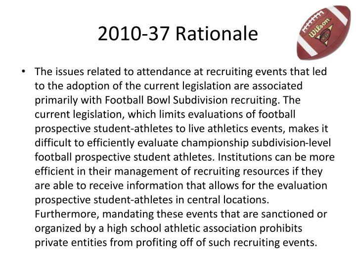 2010-37 Rationale