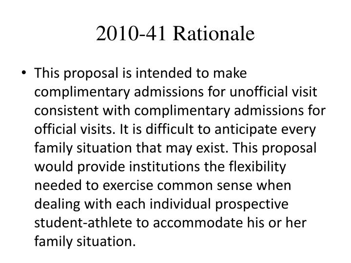 2010-41 Rationale
