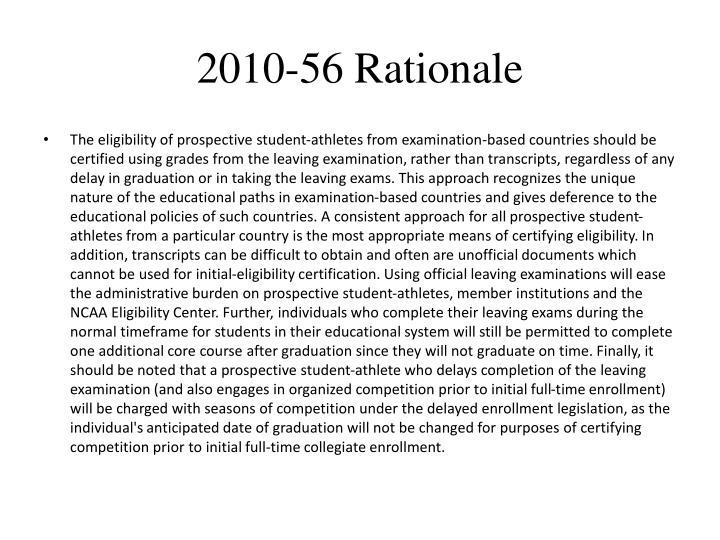 2010-56 Rationale