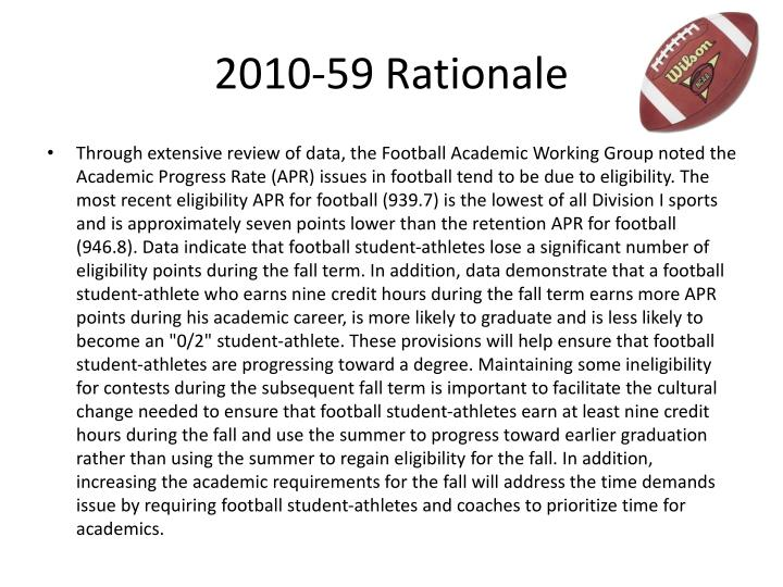 2010-59 Rationale