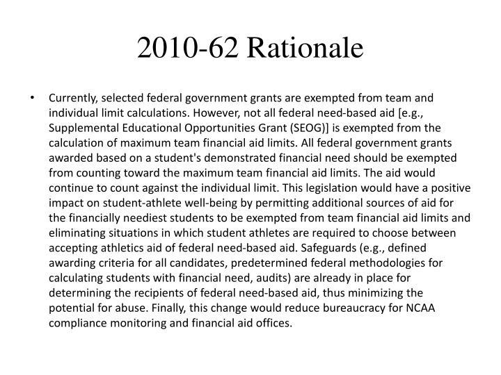 2010-62 Rationale