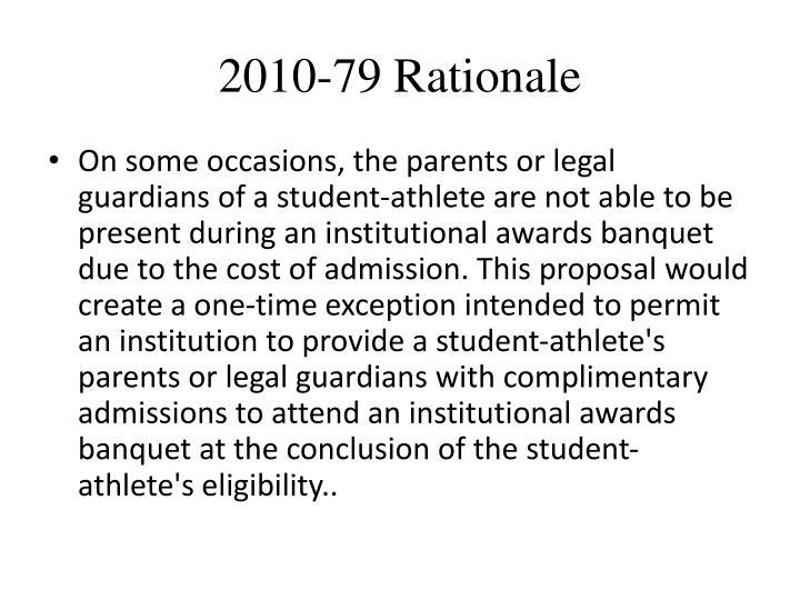 2010-79 Rationale