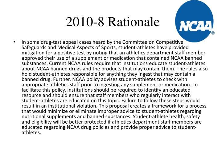 2010-8 Rationale